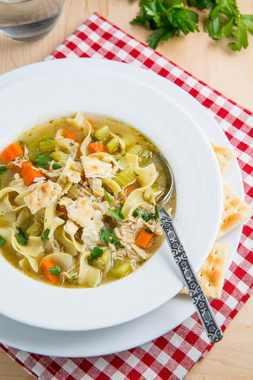 """Chicken Noodle Soup """"A quick and easy homemade chicken noodle soup that..."""