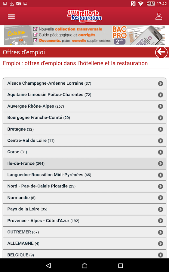 Lhr emploi android apps on google play for Emploi dans restauration