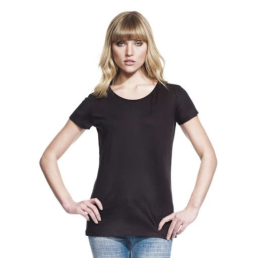 Printed Bamboo Organic Fabric T-Shirts  (Ladies)