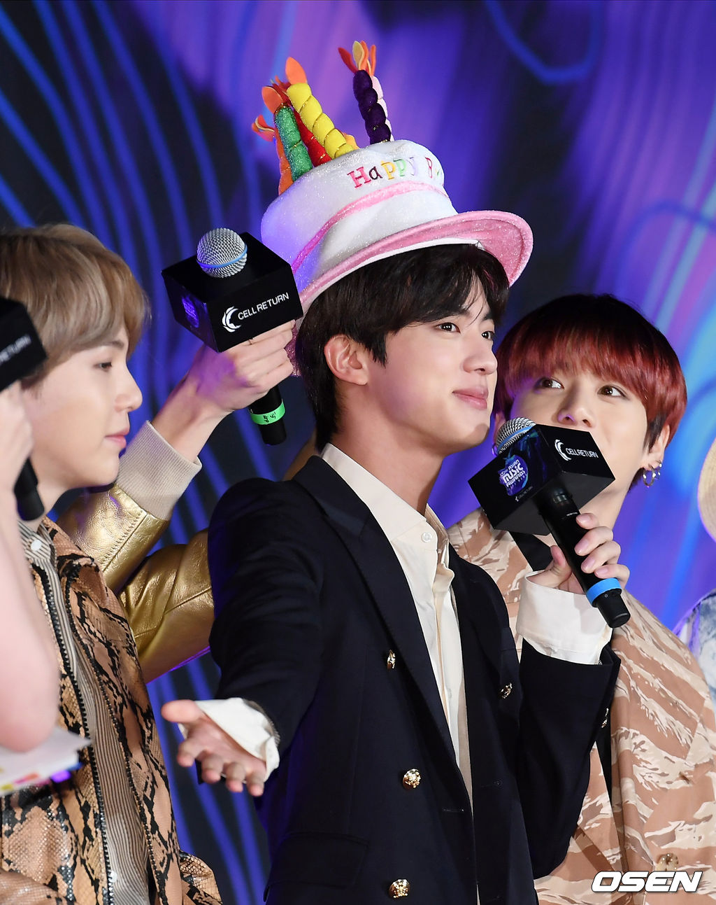 BTS's Jin Passes Birthday Hat To TXT's Soobin's To