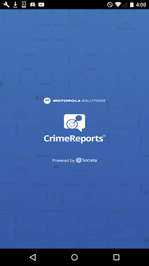 Screenshot 0 for CrimeReports's Android app'