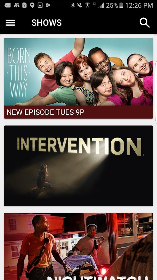 A&E - Watch Full Episodes of TV Shows- screenshot