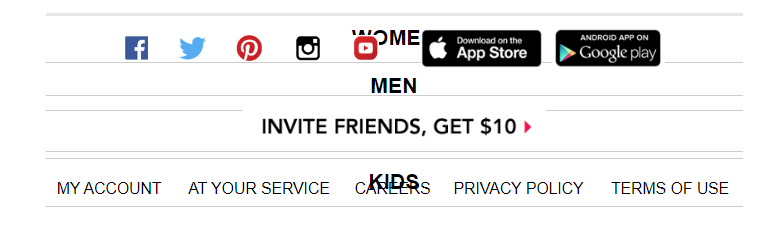 invite friends offer - broken email