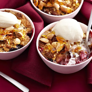 Mixed Berry Crumble with Almond Brittle