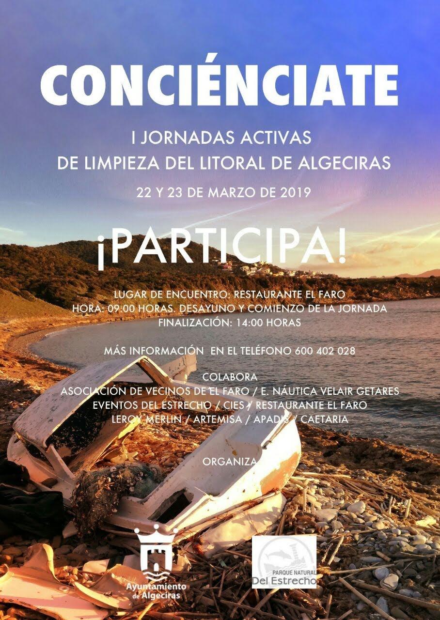 """Adelante Algeciras denuncia la """"desvergüenza"""" del Ayuntamiento, que pone a la gente a limpiar el litoral cuando debería hacerlo la empresa contratada para ello"""