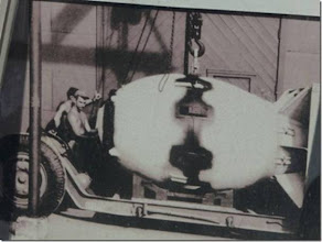 Photo: Fat Man, the atomic bomb dropped on Nagasaki.
