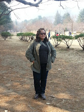 Photo: Mitch enjoying her Nami Island pictorial. :)