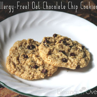 {Allergy-Free} Oat Chocolate Chip Cookies.