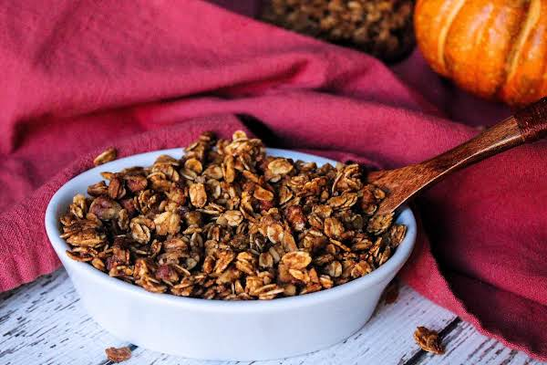 A Bowl Of Pumpkin Crunch Granola.