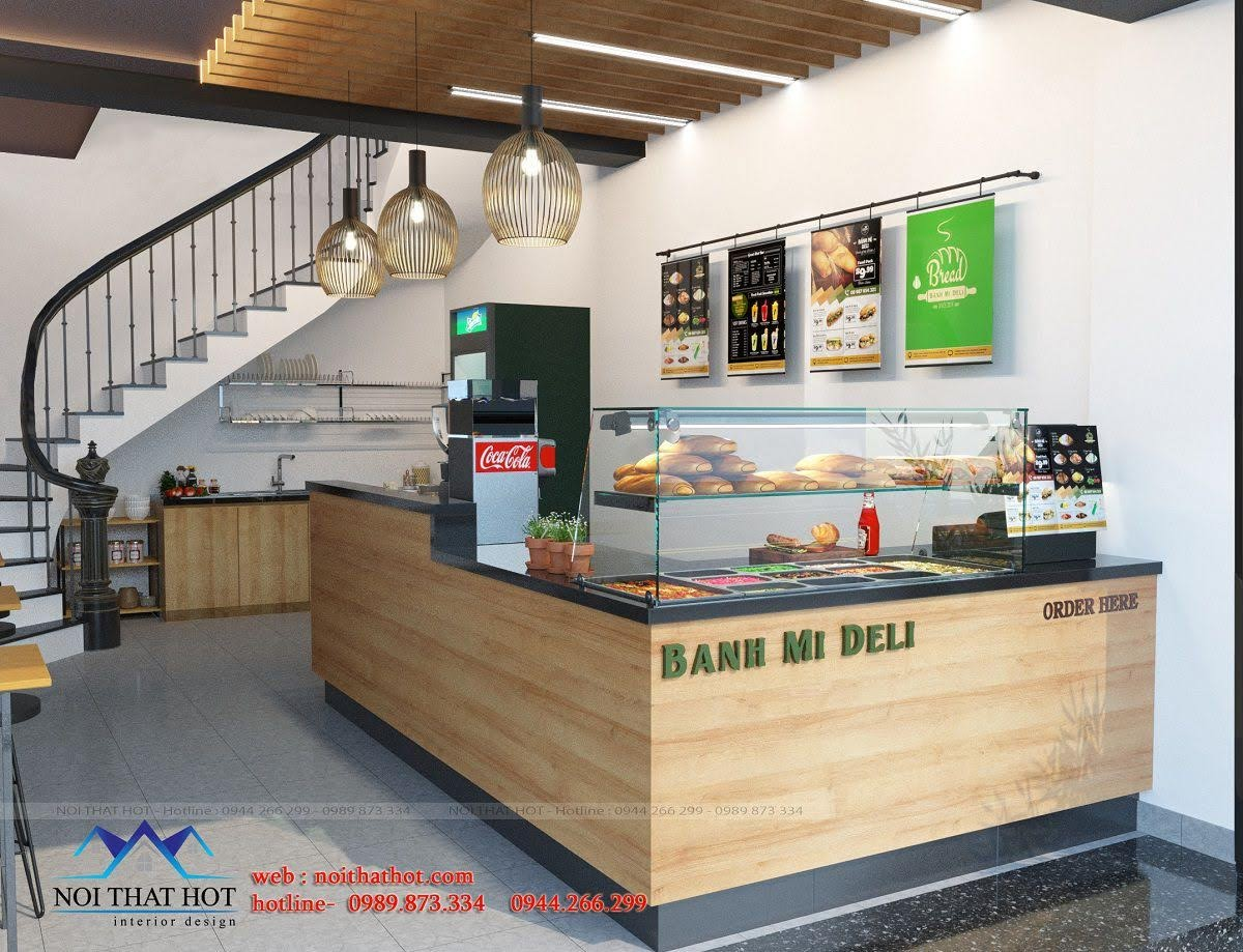 thiết kế cửa hàng bánh mì hà nội