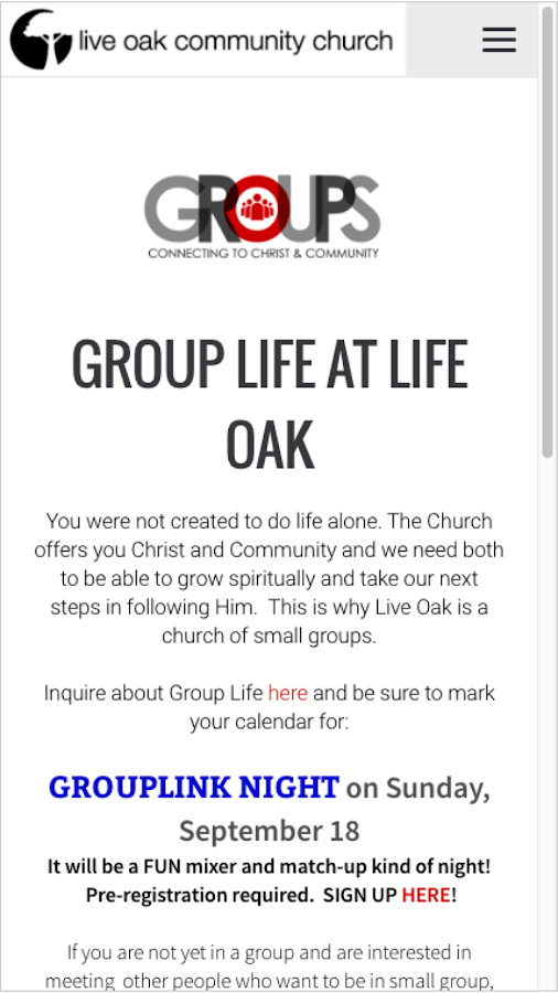 Live Oak Community Church- screenshot