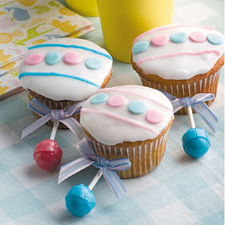 Baby Rattle Cupcakes.