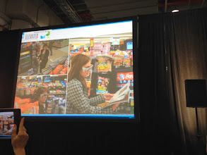 Photo: Retail science: tracking consumers' interest and reaction to displays/merchandising by using special glasses to monitor eye activity #nrf14