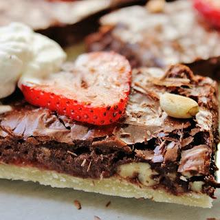 Chocolate Strawberry Slab Pie
