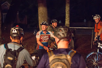 Photo: the night riders gather