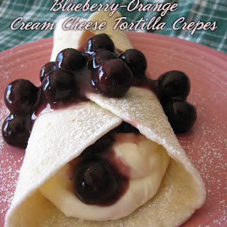 Blueberry-Orange Cream Cheese Tortilla Crepes