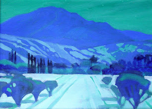 Photo: Diablo by Moonlight, acrylic on canvas by Nancy Roberts, copyright 2014. Private collection.