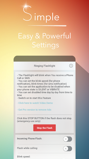 Ringing Flashlight 4.8.3 screenshots 1
