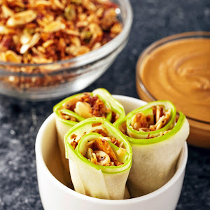 Apple Wraps with Almond Butter & Granola