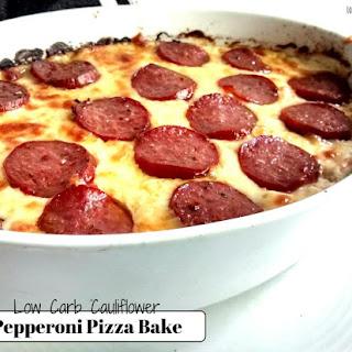Cauliflower Pepperoni Pizza Bake