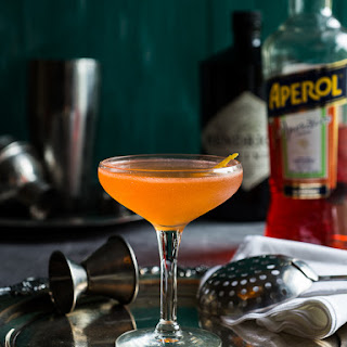 Aperol and Gin Cocktail.