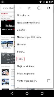 Sharp Print Service Plugin - náhled