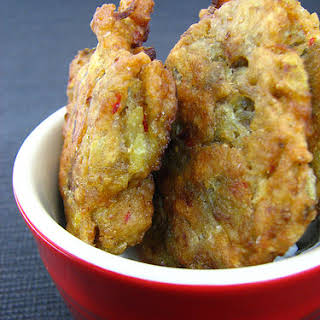 Indian Eggplant Fritters.