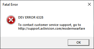 "[Solved] How to Fix Call of Duty Modern Warfare Fatal Error ""DEV ERROR 6328"""