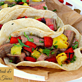 Grilled Steak and Pineapple Tacos.