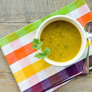 Vegetarian Mulligatawny Soup with Red Lentils