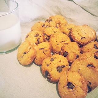 Gluten Free Coconut Flour Chocolate Chip Cookies.