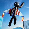 Flying Hero Stickman Criminal City icon
