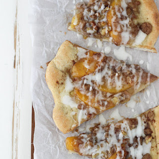 Peach Streusel Pizza