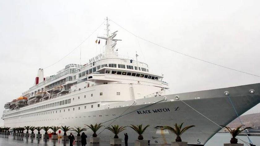 El buque Black Watch llegará este miércoles a Almería.