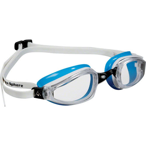Michael Phelps K-180 Lady Goggles: White/Blue with Clear Lens
