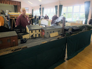 Photo: 015 S&D Group member Alan Eadle is a regular exhibitor at Group open days with his 16mm scale industrial layout: Ryan's Mill .