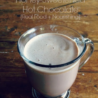 HONEY SWEETENED HOT CHOCOLATE.