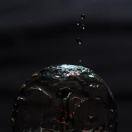 Bulp Splash by Adriaan Vlok - Abstract Water Drops & Splashes ( water, bulp droplets, splash, droplets )