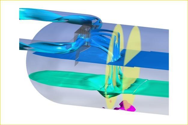 ANSYS - Моделирование горизонтального трехфазного сепаратора