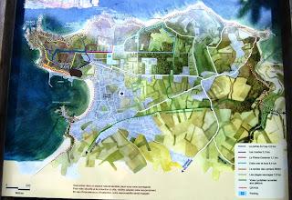 """Photo: BRETANYA 2013. ERQUY. Mapa Punta Erquy, i  """"les lacs bleus""""."""