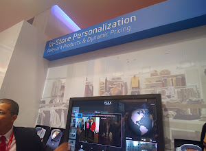 Photo: Intel's in-store personalization technology #nrf14 #throughglass