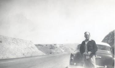 Photo: Joe Bernard Tillery with his 1953 Buick restored About 1955
