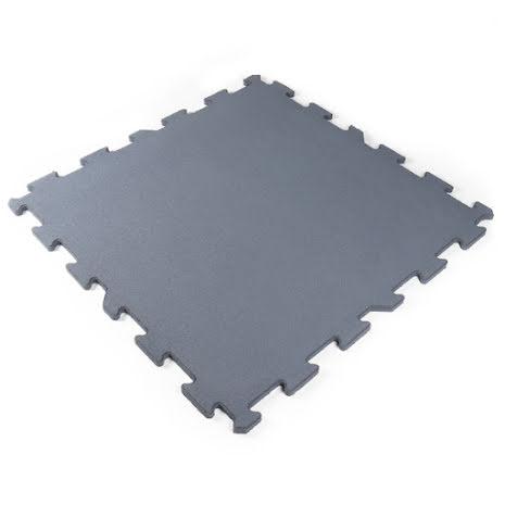 Gummigolv pussel 20mm, grå 1x1m