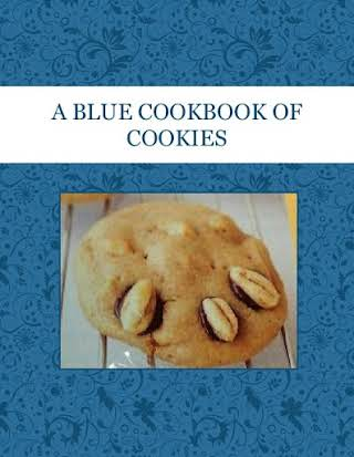 A  BLUE COOKBOOK OF   COOKIES