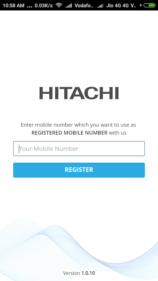 Hitachi India Customer Care- screenshot