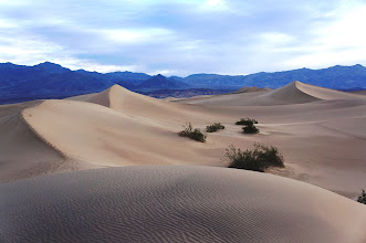 Photo: The Mesquite Flat Sand Dunes are at the northern end of the valley floor and are nearly surrounded by mountains on all sides.