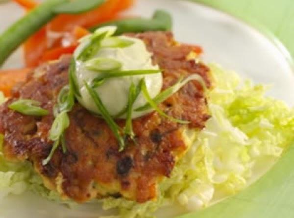 Wasabi Salmon Burgers. Recipe