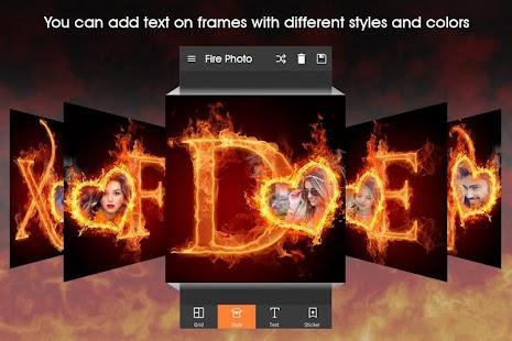 Fire Text Photo Frame - náhled