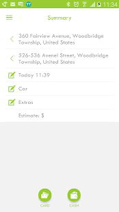 MDC-Demo Taxi App - náhled