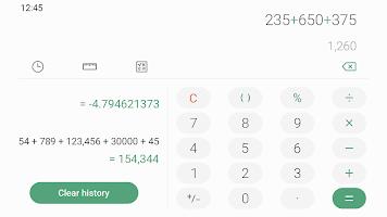 screenshot of Samsung Calculator